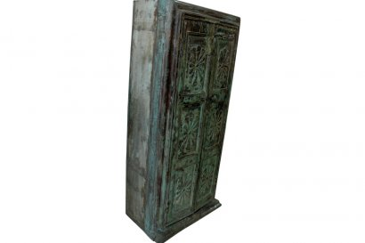 armoire ancienne en teck patine bleue paris canne toulouse lyon belgique. Black Bedroom Furniture Sets. Home Design Ideas