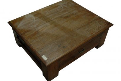 Table basse de diamantaire ancienne en teck AG-522