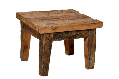 table rustique en bois de teck recycl. Black Bedroom Furniture Sets. Home Design Ideas