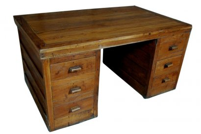 bureau ancien en bois 3 corps grande profondeur. Black Bedroom Furniture Sets. Home Design Ideas
