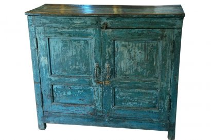 buffet ancien en bois couleur bleu vert. Black Bedroom Furniture Sets. Home Design Ideas