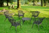 Ensemble 5 chaises + table fonte